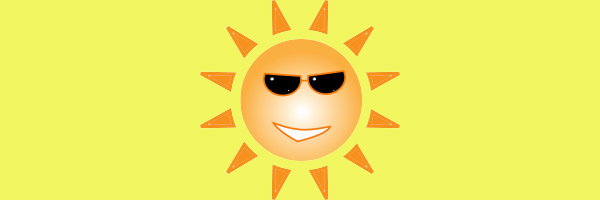 A sun with sunglasses