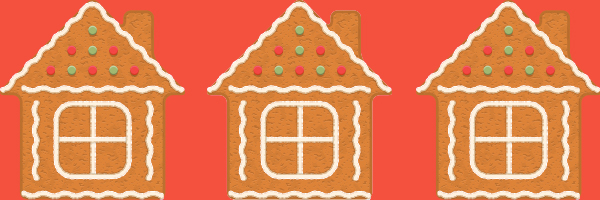 gingerbread houses, christmas, holiday
