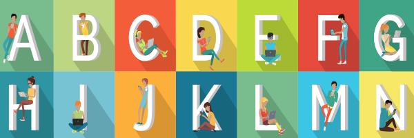 alphabet, letters, reading,