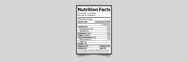 nutrition, nutritial facts