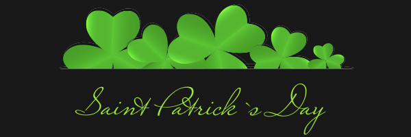 st. patrick's day and four leaf clovers