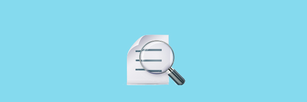 search, magnifying glass, document