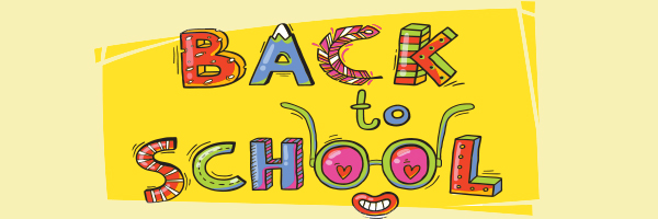 back to school, drawing, text