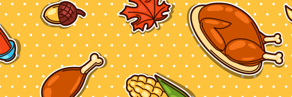 thanksgiving, turkey, corn, acorn, leaf
