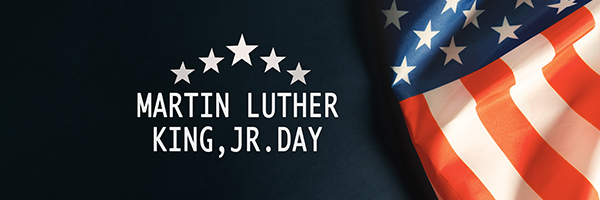 martin luther king jr. day, american flag