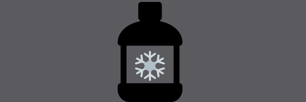 bottle with snowflake inside